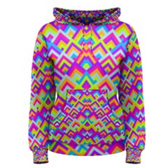 Colorful Trendy Chic Modern Chevron Pattern Women s Pullover Hoodies