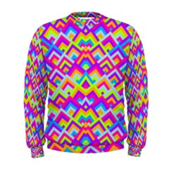 Colorful Trendy Chic Modern Chevron Pattern Men s Sweatshirts