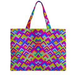 Colorful Trendy Chic Modern Chevron Pattern Zipper Tiny Tote Bags