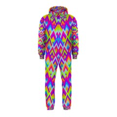 Colorful Trendy Chic Modern Chevron Pattern Hooded Jumpsuit (Kids)