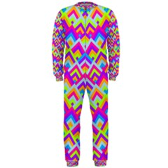 Colorful Trendy Chic Modern Chevron Pattern OnePiece Jumpsuit (Men)