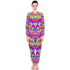 Colorful Trendy Chic Modern Chevron Pattern OnePiece Jumpsuit (Ladies)