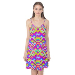 Colorful Trendy Chic Modern Chevron Pattern Camis Nightgown