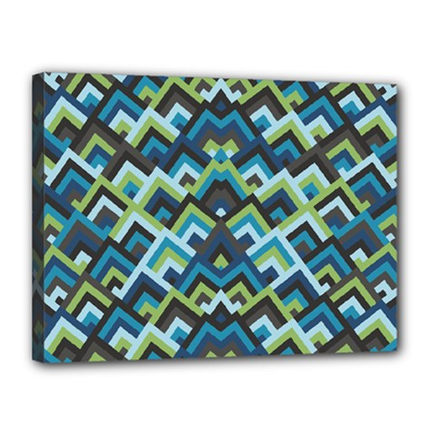 Trendy Chic Modern Chevron Pattern Canvas 16  X 12