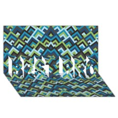 Trendy Chic Modern Chevron Pattern BEST BRO 3D Greeting Card (8x4)
