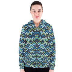 Trendy Chic Modern Chevron Pattern Women s Zipper Hoodies