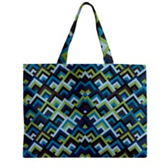 Trendy Chic Modern Chevron Pattern Zipper Tiny Tote Bags