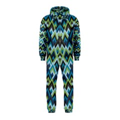 Trendy Chic Modern Chevron Pattern Hooded Jumpsuit (Kids)
