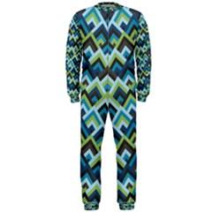 Trendy Chic Modern Chevron Pattern OnePiece Jumpsuit (Men)