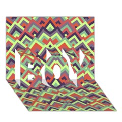Trendy Chic Modern Chevron Pattern BOY 3D Greeting Card (7x5)