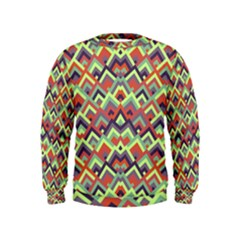 Trendy Chic Modern Chevron Pattern Boys  Sweatshirts
