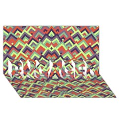 Trendy Chic Modern Chevron Pattern Engaged 3d Greeting Card (8x4)