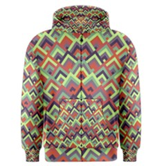 Trendy Chic Modern Chevron Pattern Men s Zipper Hoodies