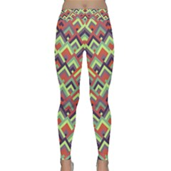 Trendy Chic Modern Chevron Pattern Yoga Leggings