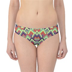 Trendy Chic Modern Chevron Pattern Hipster Bikini Bottoms