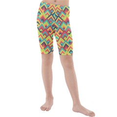 Trendy Chic Modern Chevron Pattern Kid s swimwear