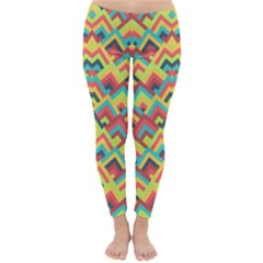 Trendy Chic Modern Chevron Pattern Winter Leggings