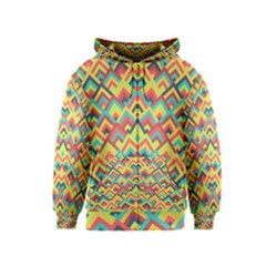 Trendy Chic Modern Chevron Pattern Kids Zipper Hoodies