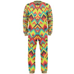 Trendy Chic Modern Chevron Pattern OnePiece Jumpsuit (Men)
