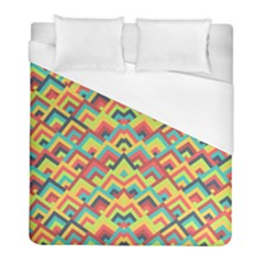 Trendy Chic Modern Chevron Pattern Duvet Cover Single Side (twin Size)