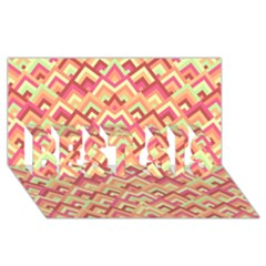 Trendy Chic Modern Chevron Pattern Best Sis 3d Greeting Card (8x4)
