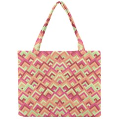 Trendy Chic Modern Chevron Pattern Tiny Tote Bags