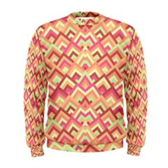 Trendy Chic Modern Chevron Pattern Men s Sweatshirts