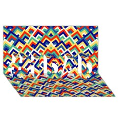 Trendy Chic Modern Chevron Pattern #1 Dad 3d Greeting Card (8x4)