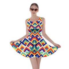 Trendy Chic Modern Chevron Pattern Skater Dresses