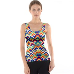 Trendy Chic Modern Chevron Pattern Tank Tops