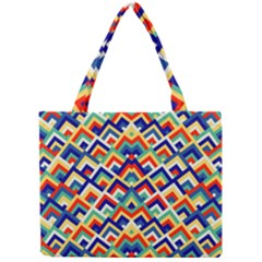 Trendy Chic Modern Chevron Pattern Tiny Tote Bags