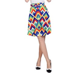 Trendy Chic Modern Chevron Pattern A Line Skirts