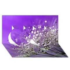 Dandelion 2015 0706 Twin Hearts 3d Greeting Card (8x4)