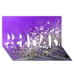 Dandelion 2015 0706 #1 Dad 3d Greeting Card (8x4)