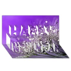 Dandelion 2015 0706 Happy New Year 3d Greeting Card (8x4)