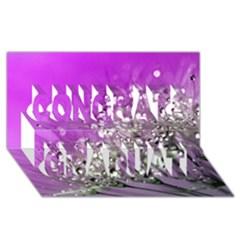 Dandelion 2015 0707 Congrats Graduate 3D Greeting Card (8x4)