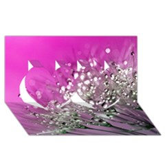 Dandelion 2015 0708 Twin Hearts 3d Greeting Card (8x4)