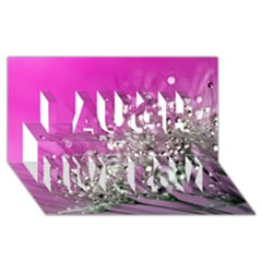Dandelion 2015 0708 Laugh Live Love 3D Greeting Card (8x4)