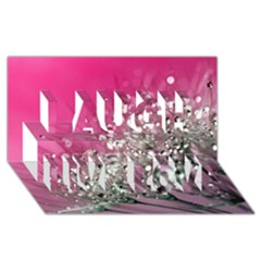 Dandelion 2015 0709 Laugh Live Love 3d Greeting Card (8x4)