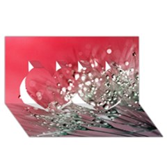 Dandelion 2015 0710 Twin Hearts 3d Greeting Card (8x4)