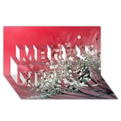 Dandelion 2015 0710 Merry Xmas 3D Greeting Card (8x4)
