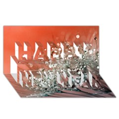 Dandelion 2015 0711 Happy New Year 3d Greeting Card (8x4)