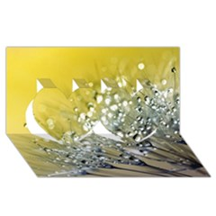 Dandelion 2015 0713 Twin Hearts 3d Greeting Card (8x4)