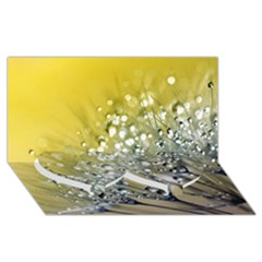 Dandelion 2015 0713 Twin Heart Bottom 3d Greeting Card (8x4)