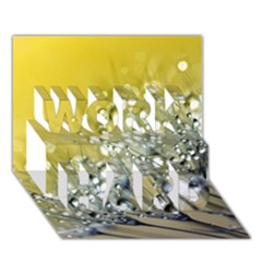 Dandelion 2015 0713 WORK HARD 3D Greeting Card (7x5)