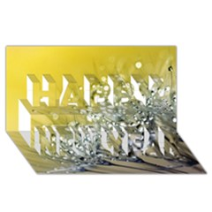 Dandelion 2015 0713 Happy New Year 3d Greeting Card (8x4)