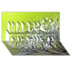 Dandelion 2015 0714 Happy Birthday 3D Greeting Card (8x4)