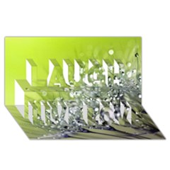 Dandelion 2015 0714 Laugh Live Love 3D Greeting Card (8x4)
