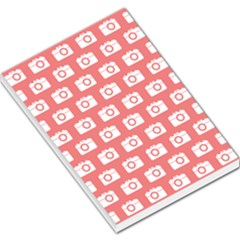 Modern Chic Vector Camera Illustration Pattern Large Memo Pads