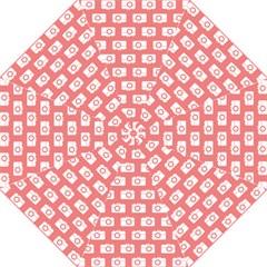 Modern Chic Vector Camera Illustration Pattern Hook Handle Umbrellas (medium)